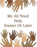 hjälpa för händer Arkivbild