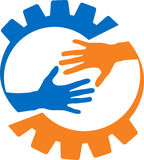 Hjälpande hand för fabrik vektor illustrationer
