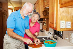 hjälpande rv-pensionärthanks arkivbild