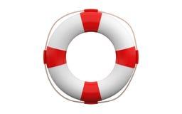 hjälpbilden för bakgrund 3d isolerade lifebuoy framförd white royaltyfri illustrationer