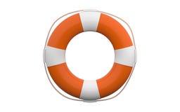 hjälpbilden för bakgrund 3d isolerade lifebuoy framförd white stock illustrationer