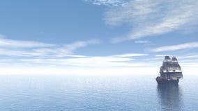 Hjälpflaska och lämnafartyg - 3D framför stock illustrationer