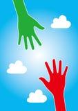 Hjälphandbegrepp vektor illustrationer
