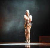 Hjälplös kvinna-identitet av dentango dansdramat Fotografering för Bildbyråer