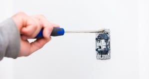 hjälpmedel för elektriker s Royaltyfri Fotografi