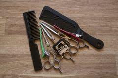 Hjälpmedel för frisör` s Fotografering för Bildbyråer