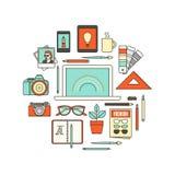 Hjälpmedel för grafisk formgivare stock illustrationer