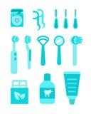 Hjälpmedel för individ för muntlig hygien för tandvård royaltyfri illustrationer