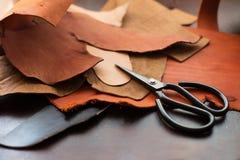 Hjälpmedel för leathercraft royaltyfria bilder