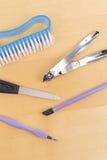 hjälpmedel för manicureset Royaltyfria Bilder