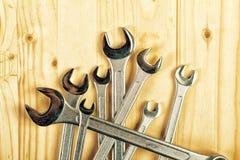 Hjälpmedel för skiftnyckelkäkeskruvnyckel Arkivfoton