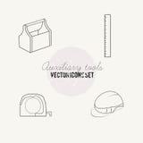 Hjälpmedel för uppsättning för reparationsvektorsymbol stock illustrationer