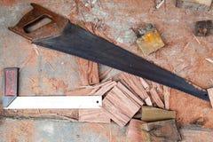 Hjälpmedel för wood arbete Royaltyfri Foto