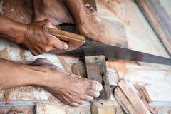 Hjälpmedel för wood arbete Arkivbild