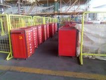 Hjälpmedel lagrar för flygplansunderhåll Royaltyfri Foto
