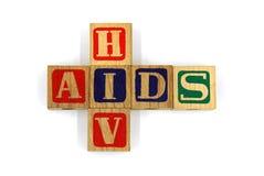 HJÄLPMEDEL och HIV - textbakgrund royaltyfria foton