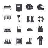 Hjälpmedel och utrustning för säkerhet Arkivbild