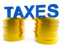 Hjälpmedelarbetsuppgifter arbetsuppgift och skattebetalare för höga skatter Arkivbild