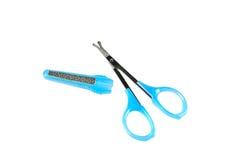Hjälpmedlet scissors tätt upp Royaltyfria Bilder