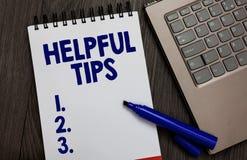 Hjälpsamma spetsar för handskrifttext Begreppet som betyder användbar hemlig fallen för informationsrådgivning, utför något öppen fotografering för bildbyråer