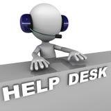 Hjälpskrivbord vektor illustrationer