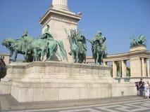 Hjältar kvadrerar, Budapest royaltyfria foton