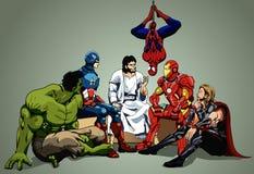 Hjälte och Jesus Arkivbilder