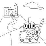 Hjälte och slott Stock Illustrationer