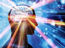Hjärna ljus, begrepp royaltyfri illustrationer