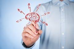 Hjärna och exponeringar Arkivbild