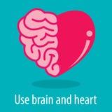 Hjärna och hjärta Fotografering för Bildbyråer