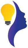 Hjärna och lampa Royaltyfri Bild