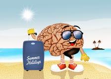 Hjärna på ferier Arkivbild