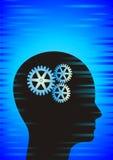 hjärna som clockworking Royaltyfri Foto