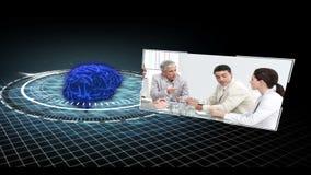 Hjärna som fungerar som ett affärshjälpmedel stock video