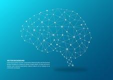 Hjärna som kartlägger begrepp arkivfoton