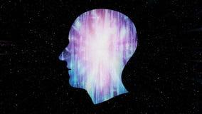 Hjärnarbeten, konstgjord intelligens AI och tekniskt avancerat begrepp Mänsklig och begreppsmässig cyberspace, smart konstgjord i vektor illustrationer