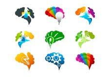 Hjärnbegreppsdesign vektor illustrationer