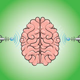 hjärnbildläsning stock illustrationer