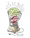 Hjärnhjärtaskaka Royaltyfri Bild