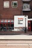 Hjärnlopp på cyklar arkivbilder