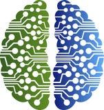 Hjärnströmkretslogo vektor illustrationer