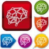Hjärnsymbol Royaltyfri Bild