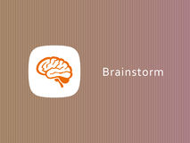 Hjärnsymbol för infographic Royaltyfria Bilder