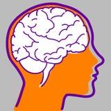 hjärnsymbolsvektor Arkivbilder