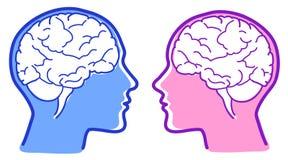 hjärnsymbolsvektor Arkivfoto