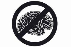 Hjärntecken Arkivfoto