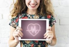 Hjärt- för hjärtadiagram för kardiovaskulär sjukdom begrepp royaltyfri foto