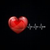 Hjärt- frekvens vektor illustrationer