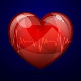 Hjärt- frekvens royaltyfri illustrationer